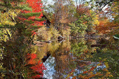 Photograph - Hidden From View On Chocorua River by Jeff Folger