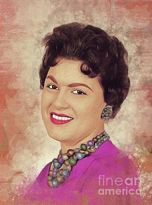 Jazz Royalty Free Images - Patsy Cline, Music Legend Royalty-Free Image by John Springfield