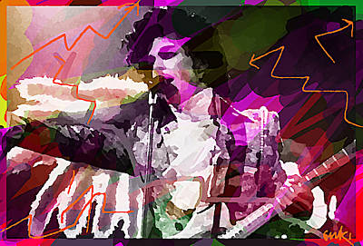 Musicians Drawings Rights Managed Images - Prince Holy River  Royalty-Free Image by Enki Art