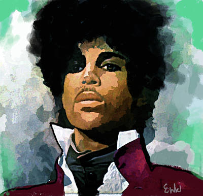 Musicians Drawings Rights Managed Images - Prince Regal  Royalty-Free Image by Enki Art