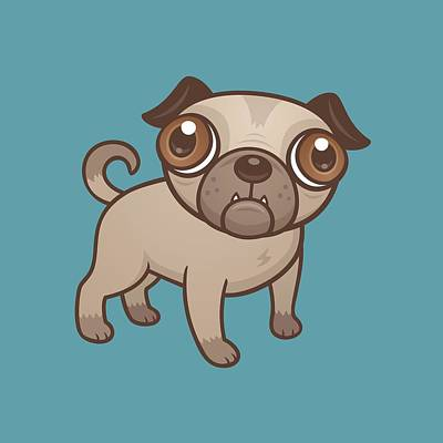 Royalty-Free and Rights-Managed Images - Pug Puppy Cartoon by John Schwegel