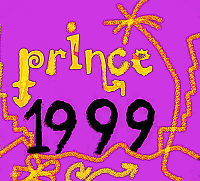 Musicians Drawings Rights Managed Images - 1999 by Prince 1982 single  Royalty-Free Image by Enki Art