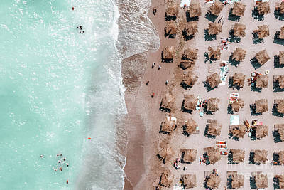 Royalty-Free and Rights-Managed Images - Aerial Beach Art Print, Summer Vibes Print, Blue Sea Photography, Ocean Waves Print, Beach Art by Radu Bercan