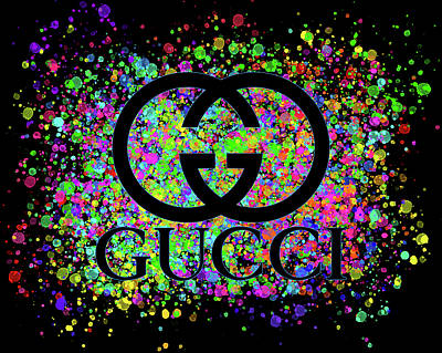 Comic Character Paintings - Gucci Color Splatter by Ricky Barnard