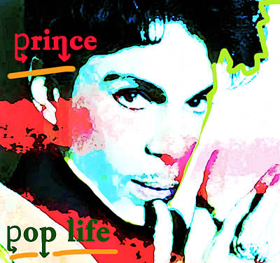 Landmarks Painting Royalty Free Images - Prince Pop Life 1985 Royalty-Free Image by Enki Art