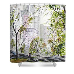 Central Park Stroll Shower Curtain