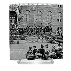 Commencement Georgetown University Shower Curtain by Fred Schutz Collection