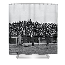 George Washington University  Fans  Vs Shower Curtain by Fred Schutz Collection