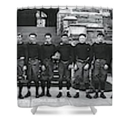 Georgetown Football Squad Washington Dc Shower Curtain by Fred Schutz Collection