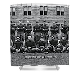 Georgetown U Football Squad Shower Curtain by Fred Schutz Collection