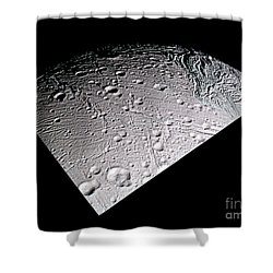 Enceladus Surface Shower Curtain by NASA / Science Source