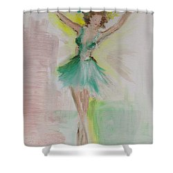 Shower Curtain featuring the painting Dance by Laurie L