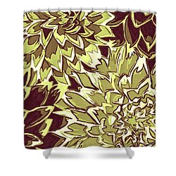 Floral Abstraction 19 Shower Curtain by Sumit Mehndiratta