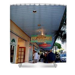 Jimmy Buffet's Margaritaville Key West Shower Curtain by Susanne Van Hulst