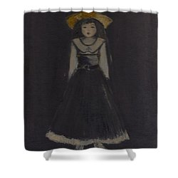 Shower Curtain featuring the painting Just A Beautiful Country Girl... by Laurie L