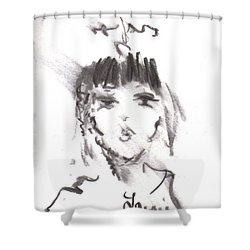 Queen Of Kisses Shower Curtain by Laurie L