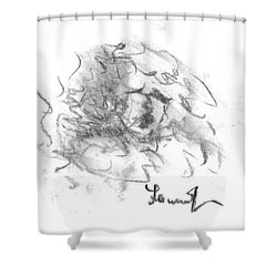 Question Of The Heart Shower Curtain by Laurie L
