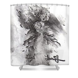 Shower Curtain featuring the drawing Rapture Of Peace by Laurie L