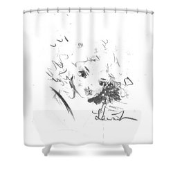 Shower Curtain featuring the drawing Just Country by Laurie L