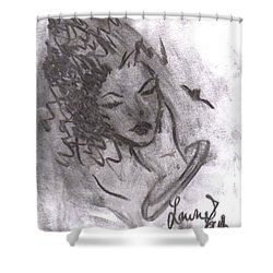 Story Of My Heart Shower Curtain by Laurie L
