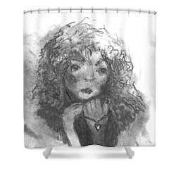 The Locket Shower Curtain by Laurie L