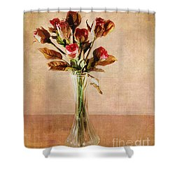 Vintage Roses Shower Curtain by Judi Bagwell