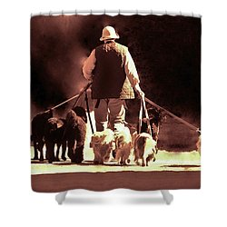 I Love This Job Shower Curtain by Margaret Bobb