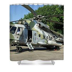 Mil Mi-17 Hip Shower Curtain by Tim Beach