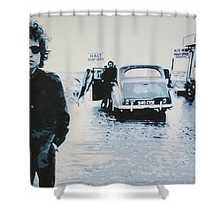 No Direction Home Shower Curtain