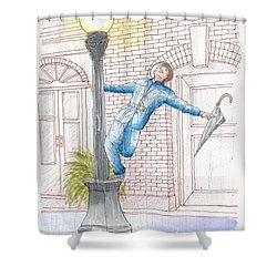 Gene Kelly In Singing In The Rain, 1952 Shower Curtain