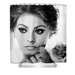 Sophia Loren (1934-  ) Shower Curtain by Granger