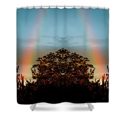 The Rainbow Effect Shower Curtain by Sue Stefanowicz