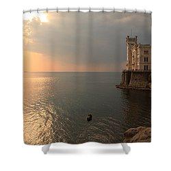 Miramare Sunset Shower Curtain by Ian Middleton