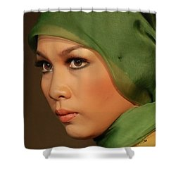 Portrait Shower Curtain by Charuhas Images