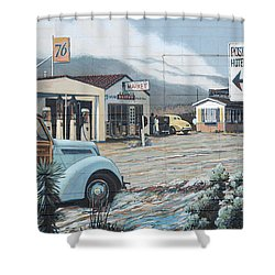 29 Palms Flood Mural Shower Curtain by Bob Christopher