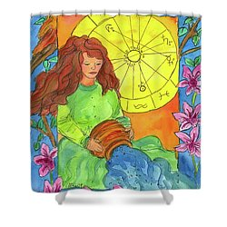 Shower Curtain featuring the painting Aquarius by Cathie Richardson