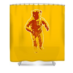 Astronaut Graphic Shower Curtain by Pixel Chimp
