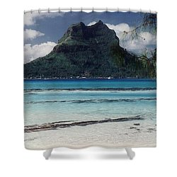 Shower Curtain featuring the photograph Bora Bora by Mary-Lee Sanders