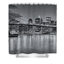 Brooklyn Bridge Twilight II Shower Curtain