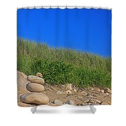 Cairn Dunes And Moon Shower Curtain