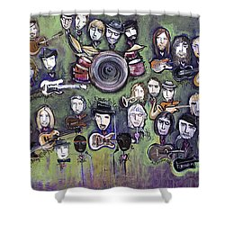 Chris Daniels And Friends Shower Curtain by Laurie Maves ART