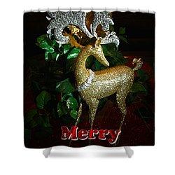 Christmas Card Shower Curtain by Chris Brannen