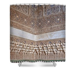 Colorful Carved Corner Shower Curtain