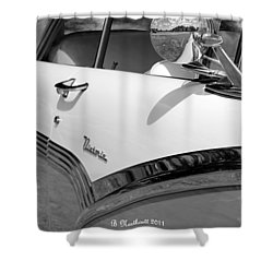 Creative Chrome - 1956 Ford Fairlane Victoria Shower Curtain by Betty Northcutt