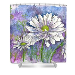 Shower Curtain featuring the painting Daisy Three by Cathie Richardson