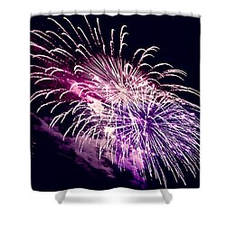 Exploding Stars Shower Curtain by DigiArt Diaries by Vicky B Fuller