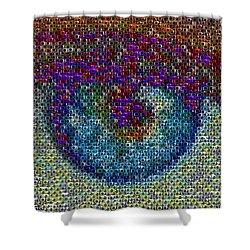 Eyeball Mosaic Shower Curtain by Paul Van Scott