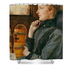 Far Away Thoughts Shower Curtain by Sir Lawrence Alma-Tadema