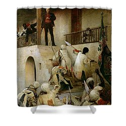 General Gordon's Last Stand Shower Curtain by George William Joy