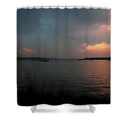 Glenmore Reservoir - Sunset 3 Shower Curtain by Stuart Turnbull